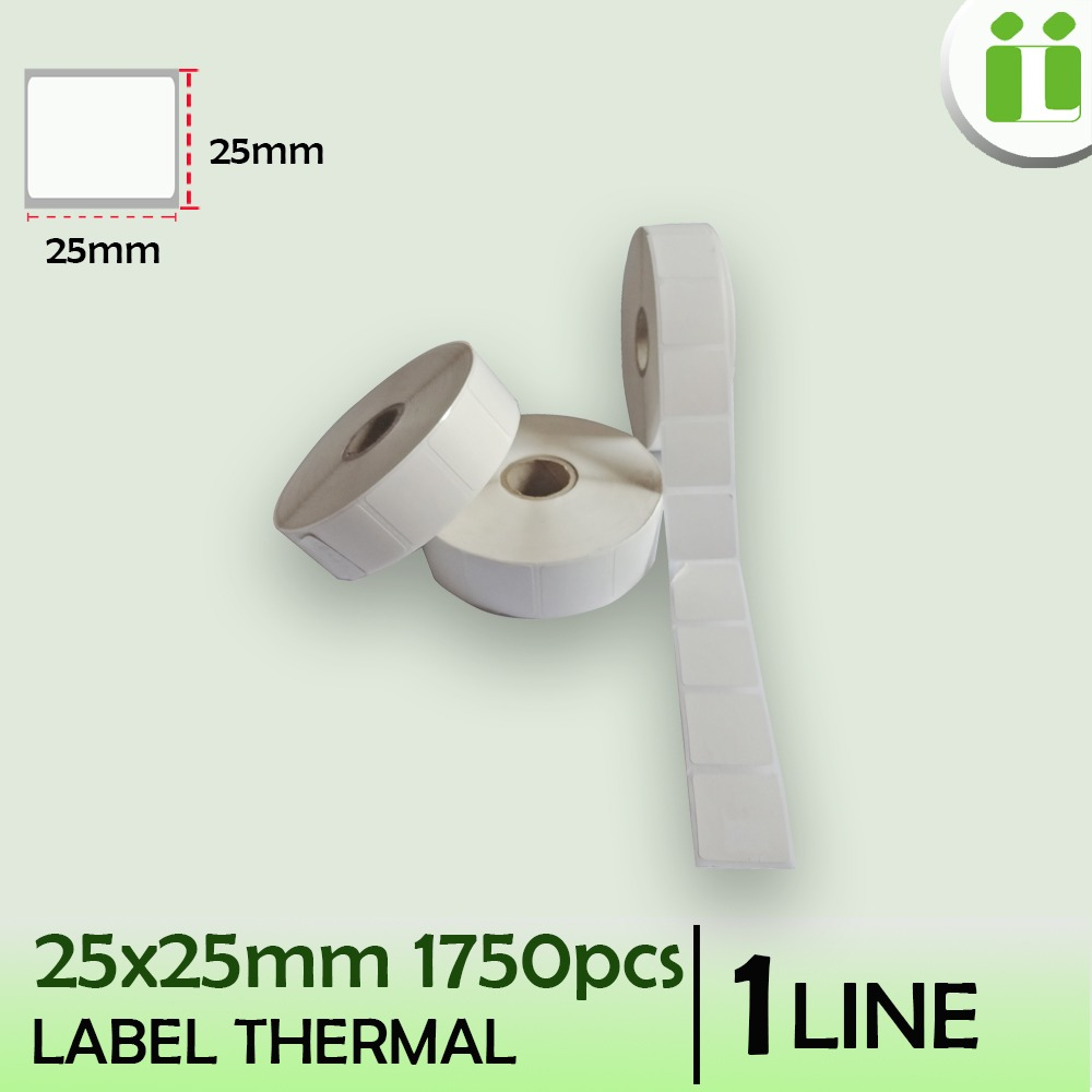 label thermal 25x25 mm 1750pcs