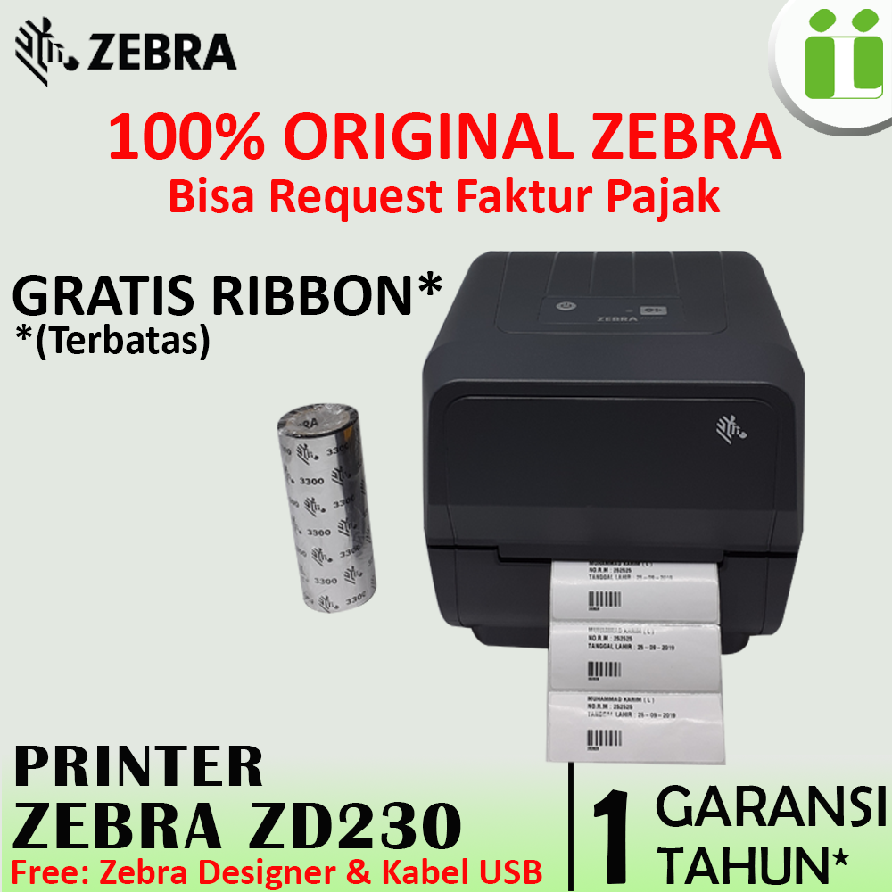 printer zebra zd230